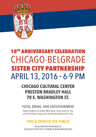 celebration of the 10th anniversary of the chicago belgrade sister