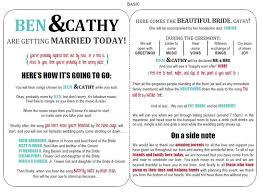 wedding program format exles wedding program wording magnetstreet weddings wedding bulletins