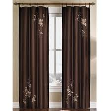 colorblock 95 in l burgundy gold faux silk grommet curtain