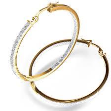 large gold hoop earrings two tone hoop earrings in 14k white yellow gold 14k gold hoop