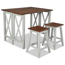 intercon small space two tone drop leaf breakfast bar table old