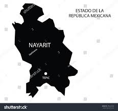 Nayarit Mexico Map by Estado De Nayarit Mexico Vector Map Stock Vector 496654099