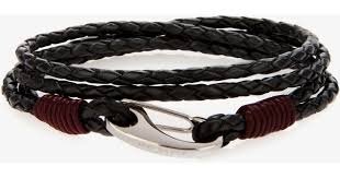 black woven leather bracelet images Ted baker woven leather bracelet in black for men lyst jpeg