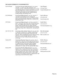 exle of a personal profile for resume free printable babysitting resume sle bio babysitter job