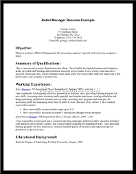 retail manager resume samples resume example for high end retail frizzigame cover letter sample resume retail sales associate free sample