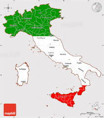 The Map Of Italy by Flag Simple Map Of Italy Flag Aligned To The Middle