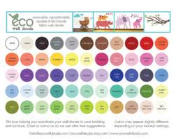 color chart etsy