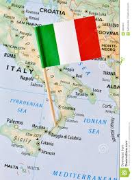 Italy On Map Italy Flag On Map Stock Photo Image 58660847