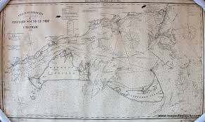 Nautical Maps Eldridge U0027s Chart C Vineyard Sound Lt Ship To Chatham Antique
