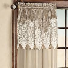 priscilla curtains with attached valance lace curtain panels cheap
