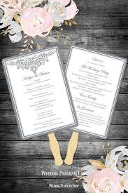 Diy Wedding Program Fan Wedding Program Fans Templates For Diy Ceremony Fan Wedding