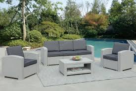 4pcs Simple Style Sofa Set Poundex Lizkona 437 4 Pcs Outdoor Living Set