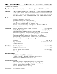 Sample Resume Objectives Cashier by Example Objective For Resume For Retail Templates