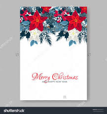 Holiday Wreath Christmas Party Invitation Or Greeting Card Template With Holiday