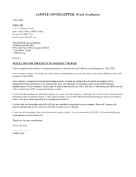job application letter for fresh graduate business administration