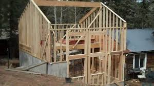 How To Frame A Wall by How To Frame A Simple 2 Story Cabin Addition Home Attic Space