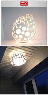 modern ceiling lights resin and glass lampshade balcony lighting