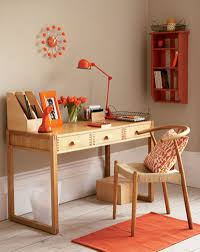 Easy Decorating Home Decor Simple Home Office With Orange Accents At Awesome Colorful Home
