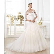 lace 3 4 sleeve wedding dress graceful boat neckline 3 4 sleeves taffeta lace wedding dress