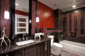 Red And Black Bathroom Accessories by 21 Sensational Bathrooms With The Ravishing Flair Of Red