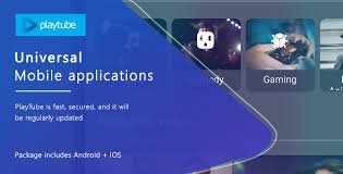 bundle android playtube v1 0 script mobile applications bundle