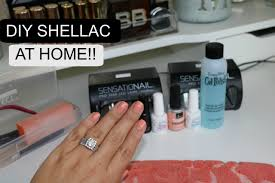 how to do your own shellac gel nails youtube