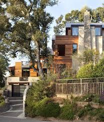 garage floor plan picture for contemporary hillside house nestled