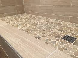 Bathroom Tile Shower Designs by Sliced Java Tan Pebble Tile Pebble Tile Shower Pebble Tiles And