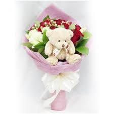 teddy delivery cheap teddy gift with bouquet delivery online in