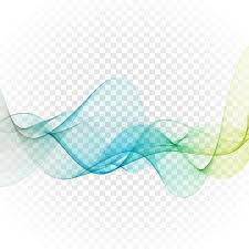 abstract blue wavy lines colorful vector background stock vector