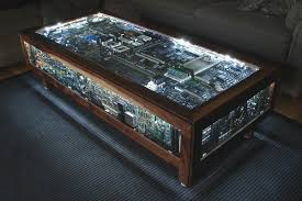 Glass Display Coffee Table Four Creative And Geeky Diy Coffee Tables Apartment Therapy