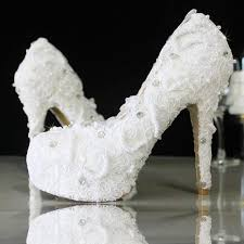 lace wedding shoes pearl white lace daisy bridal shoes 2226428