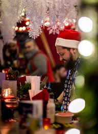look inside kitschy christmas pop up bar miracle eater montreal