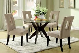 small round pedestal dining table high end gloss gray table set