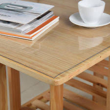 thick clear vinyl table protector clear pvc tablecloths ebay