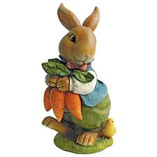 bunny rabbit garden decor statues for easter collection on ebay