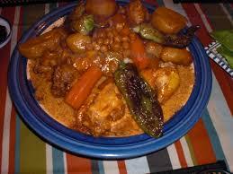 recette cuisine couscous tunisien un monde couscous aux légumes et poulet