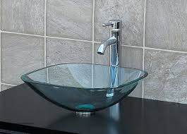 Glass Bathroom Sink Vanity Bathroom Glass Bowl Sink Silver Glass Vessel Sink Glass Bathroom