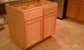 how to make a kitchen island using cabinets building kitchen island from stock cabinets page 1 line