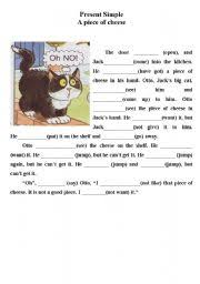 worksheet present simple funny story