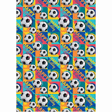 football wrapping paper kids wrapping paper football 3m gift wrap