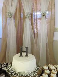 wedding backdrop burlap rustic wedding brunch reception pensacola fl