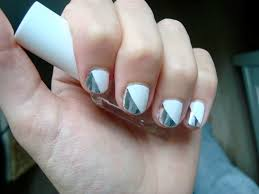 nail design white and silver acrylic nails silver white smile