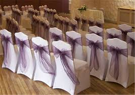 organza chair sashes plum chair sashes wedding tips and inspiration