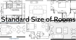 residential interior and its standard size of rooms architecture