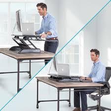 using a sit stand desk adjustable height standing desks sit stand desks tripp lite inside