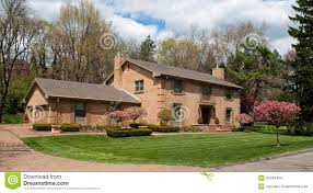 Garage Home by Large Brick Two Car Garage Home With Flowering Crabapple Trees
