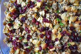 stuffing thanksgiving recipes cranberry apple sausage stuffing modern honey