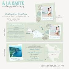 Map Wedding Invitations Beach Destination Wedding Invitation Tri Fold Invitation