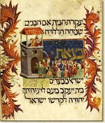 sephardic haggadah exodus kaufmann haggadah catalonia 14th century hungarian